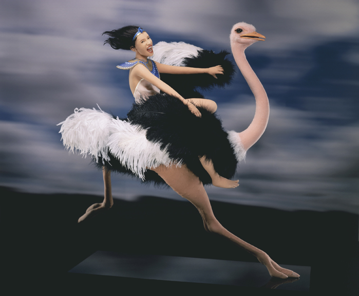 Princess on Ostrich